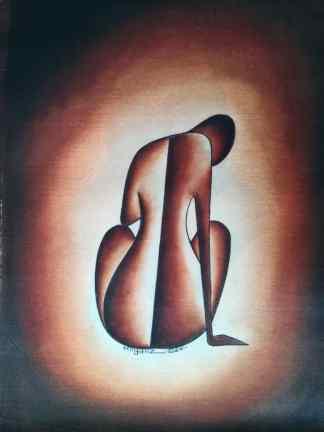 Title Comfort Zone. Artist Nuwa Wamala Nnyanzi. Medium Batik. Code NWN0232011