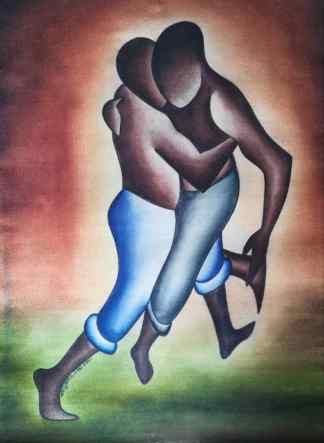 Title Easier Said Than Done.. Artist Nuwa Wamala Nnyanzi. Medium Batik. Code NWN0422011