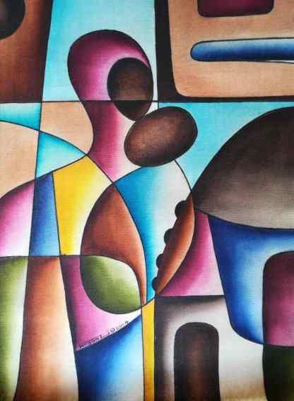 Title Empowered Mother. Artist Nuwa Wamala Nnyanzi. Medium Batik. Code NWNWEB0052014