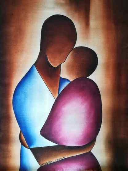 Title Fused.. Artist Nuwa Wamala Nnyanzi. Medium Batik. Code NWN0062014
