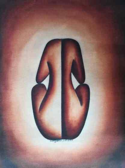 Title Gender Balance. Artist Nuwa Wamala Nnyanzi.. Medium Batik. Code NWN0212011