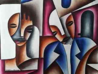 Title Keeping Vows. Artist Nuwa Wamala Nnyanzi. Medium Batik. Code NWN0232012