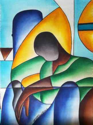 Title Lost Game. Artist Nuwa Wamala Nnyanzi. Medium Batik. Code NWN04304 32014