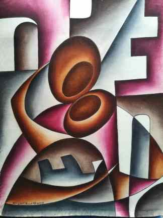 Title Loving Child. Artist Nuwa Wamala Nnyanzi. Medium Batik. Code NWN0202012