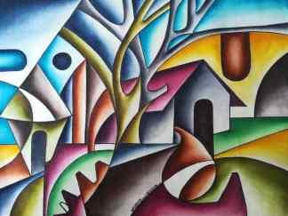 Title Sunlight. Artist Nuwa Wamala Nnyanzi. Medium Batik. Code NWN0012014