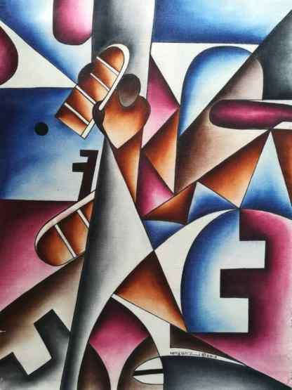 Title The Original Commandments. Artist Nuwa Wamala Nnyanzi. Medium Batik. Code NWNWEB0522010