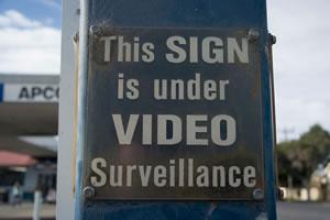 This sign is under surveillance