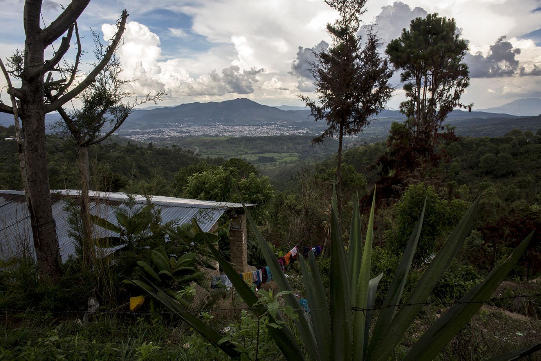 El panorama de Jalapa visto desde la montaña