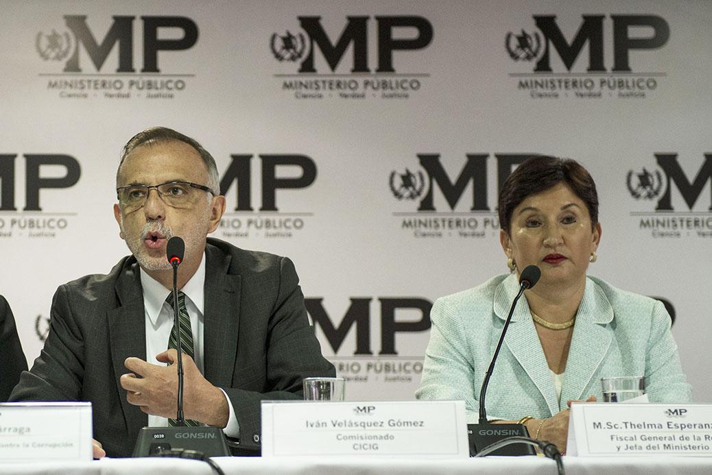 Ivan Velasquez y Thelma Aldana