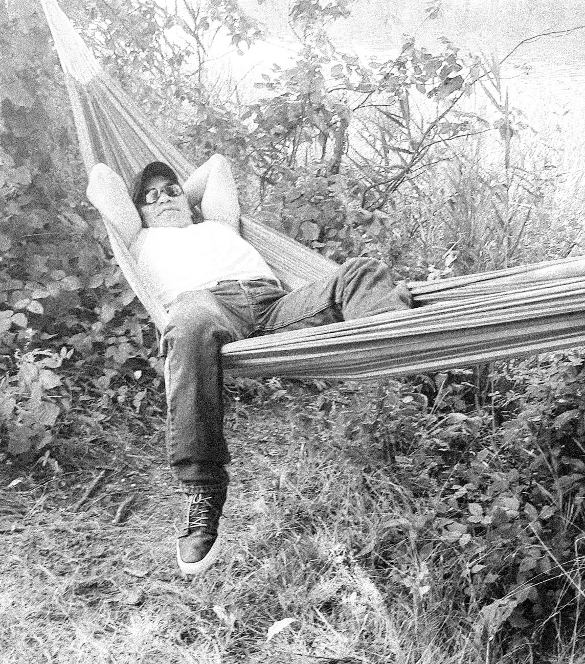 Antonio in hammock (I edited photo found on FB)