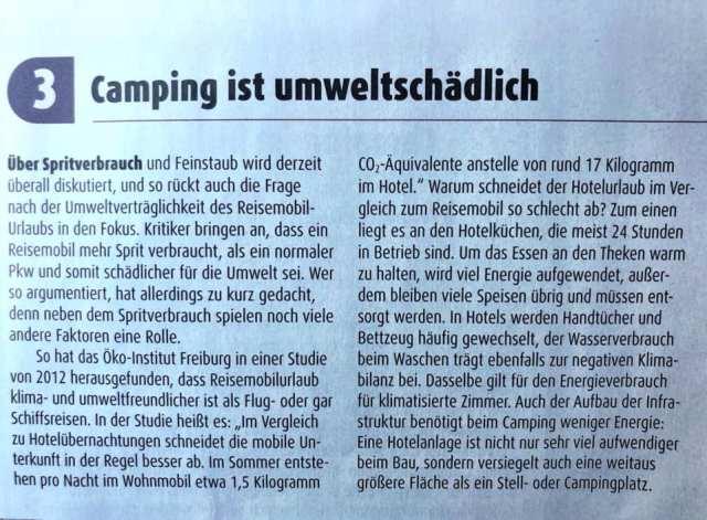 Camper en Milieu