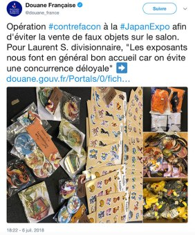 douane amateur japan expo 2018