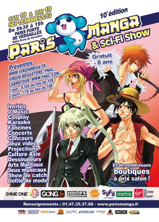 Convention Paris Manga 10 | PM septembre 2010 | Fanzine No-Xice© Nantes