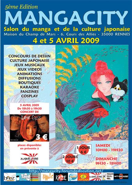 Convention Mangacity 5 à Rennes en 2009, stand No-Xice©