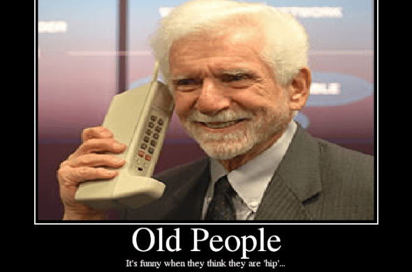 old gigantic cell phone