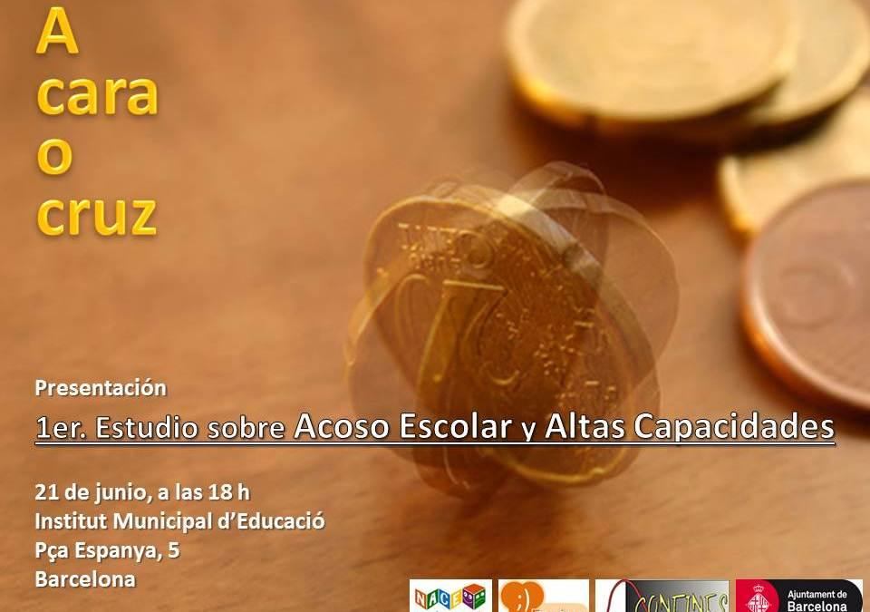Presentación del primer estudio sobre ACOSO ESCOLAR de Cataluña