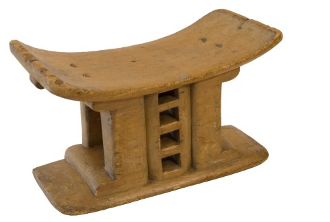 Iconic Utilitarian Table, Ashanti Ancestor Stool, Ghana, West Africa