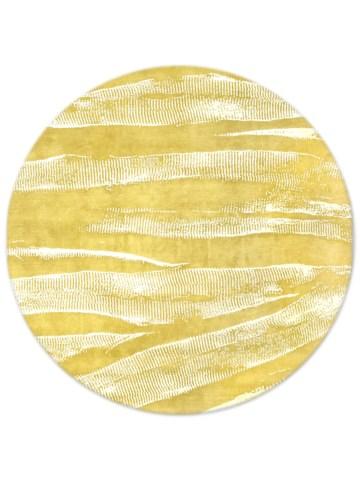 Ebu in Saffron, 8 ft. x 8 ft. round