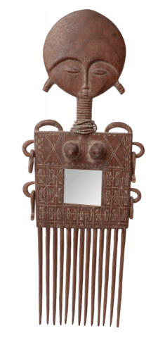 Duafe  |  Akan Comb with mirror