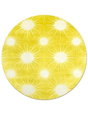 Sunburst in Forsythia, 8 ft. x 8 ft.round