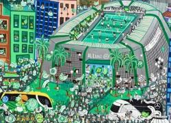 """Pintura do premiado artista D'ollynda Brasil: """"Somos rivais, não inimigos"""""""