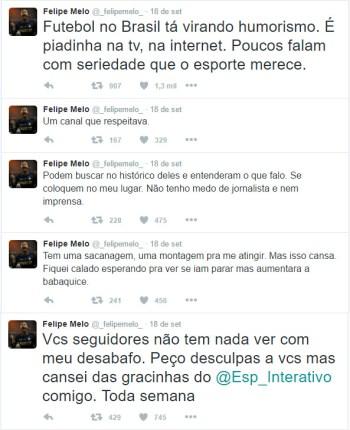 Twitter / Felipe Melo