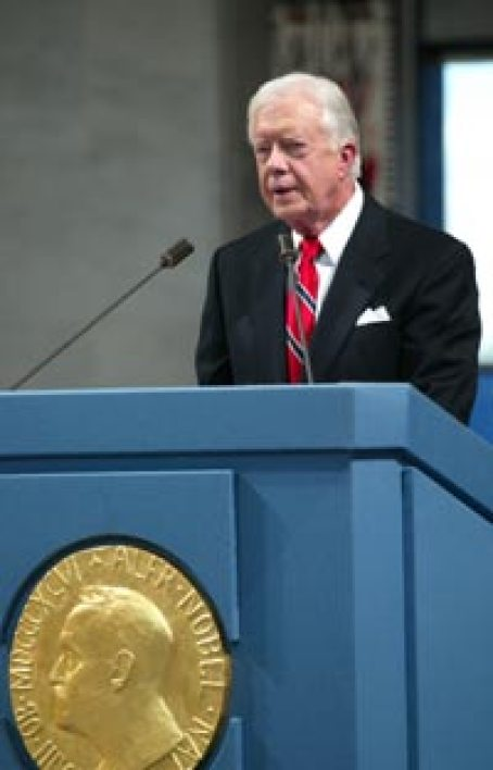 Jimmy Carter delivers his Nobel Lecture.