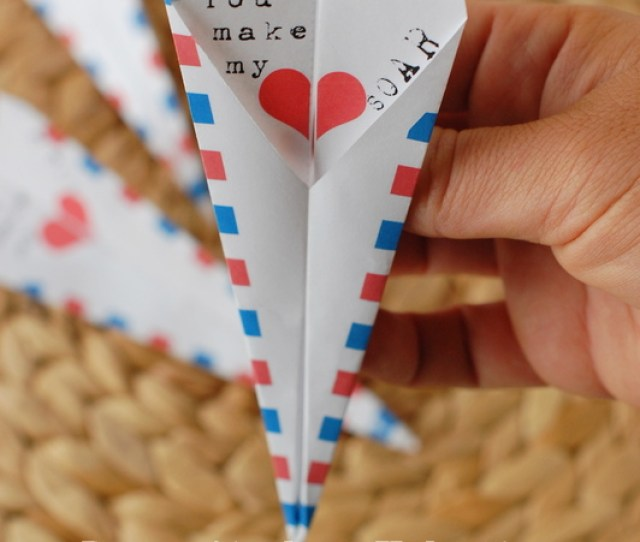 Paper Airplane Valentine Free Printable  Creative Classroom Valentines Nobiggie Net