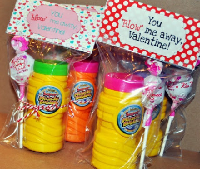 You Blow Me Away Valentine Bag Topper  Creative Classroom Valentines Nobiggie