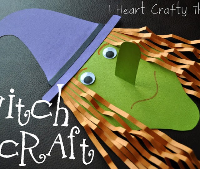 Paper Witch 25 Halloween Crafts For Kids Width