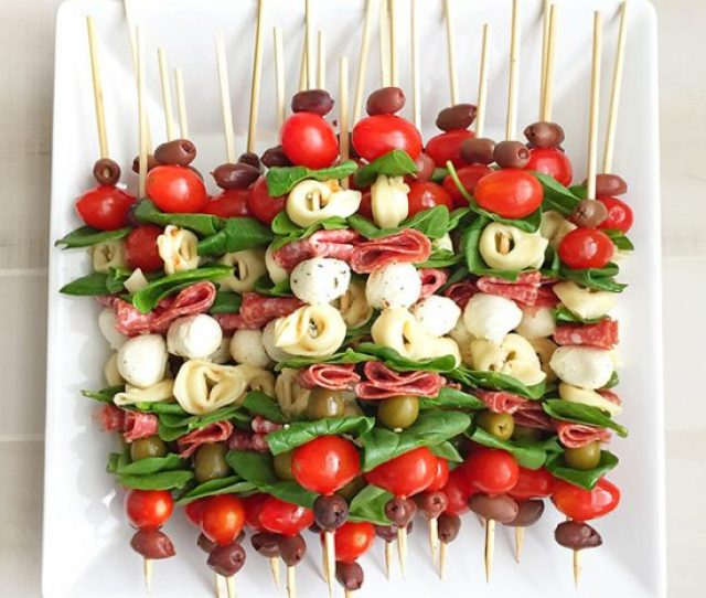Antipasto Skewers  Easy No Cook Appetizers