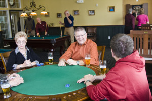Noble's Pond Residents Playing Cards