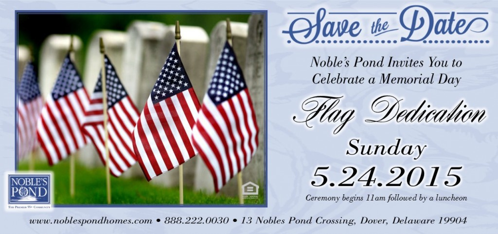 Flag Dedication at Noble's Pond