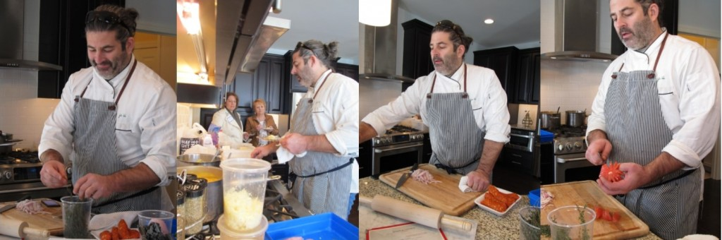 Owner of 3 restaurants- Chef Jay Caputo works his magic!