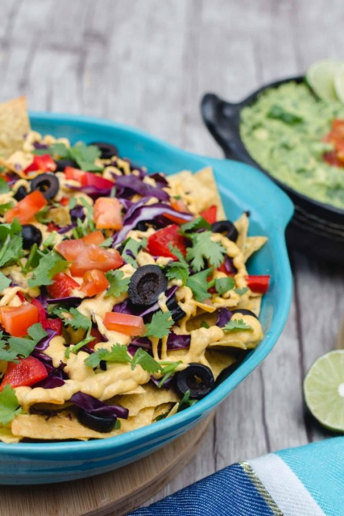 Loaded Nachos with Vegan Cheese