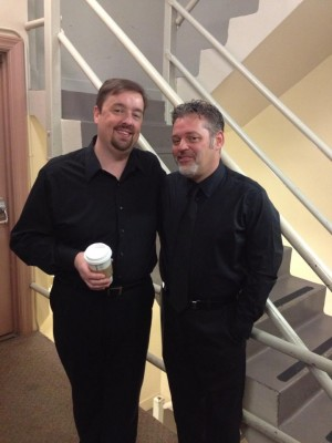 Me, with Troy Peters, backstage at the Arlene Schnitzer Concert Hall.