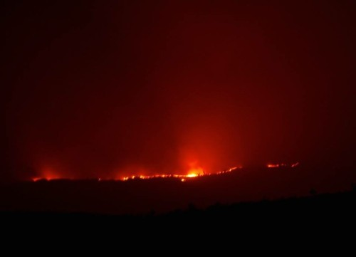 Fire over the ridge from the valley. Photo: Boo Schneider