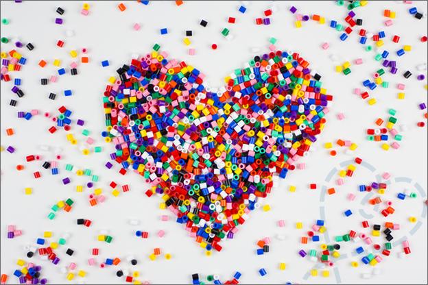 sfeerfoto strijkkralen HAMA hart