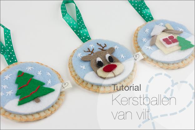 kerstballen van vilt tutorial
