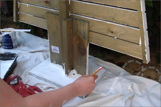 verven houten kerstoom