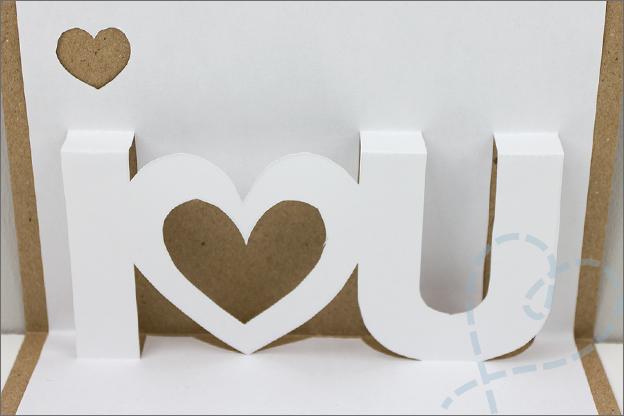 pop up kaart I love you