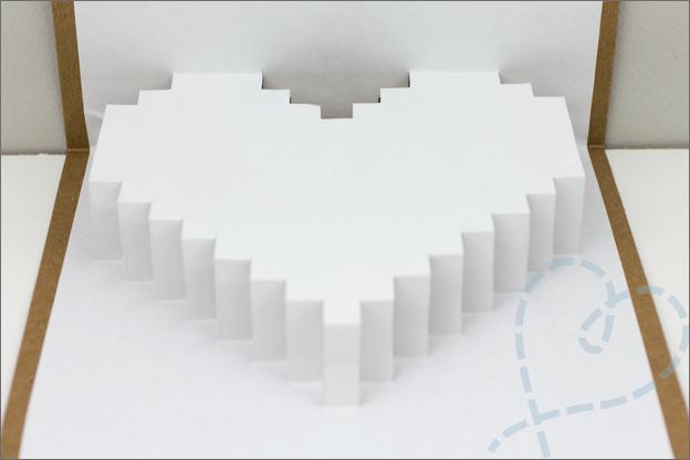 pop up kaart hart