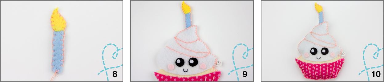 werkbeschrijving cupcake van vilt