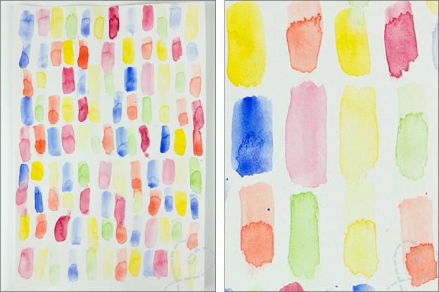 patroon confetti aquarel