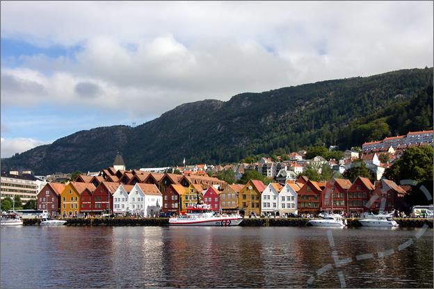Bergen noorwegen Bryggen