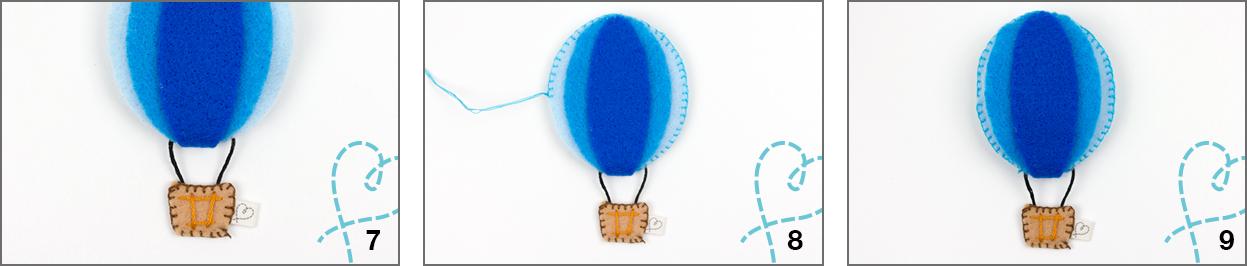 mobiel baby stap 3 vilt ballon wolkje