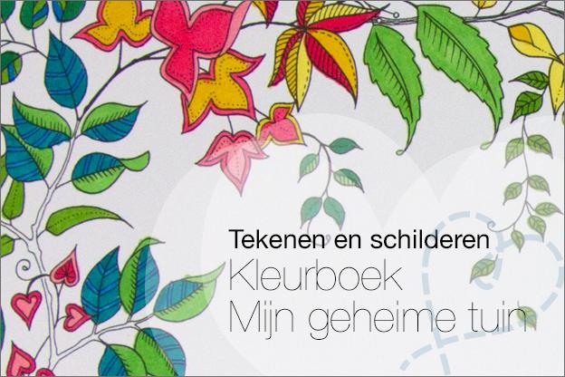 Kleurboek mijn geheime tuin voorbeelden