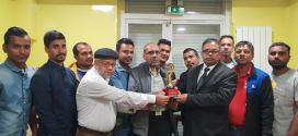 ইউরো বাংলা টেলিভিশন বিজনেস এওয়ার্ড প্রাপ্তিতে পিয়ার মোহাম্মদ কে সংবর্ধনা প্রদান