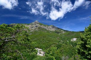 Les hameaux de Petricaghju et de Nucariu au pied du San Pedrone, Haute-Corse