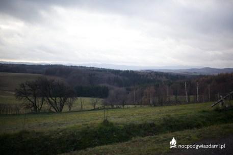 Panorama pogórza Kaczawskiego z przed miejscowości Stanisławów
